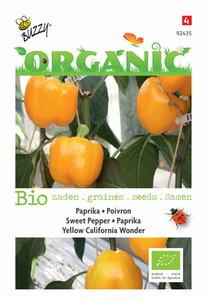Paprika zaden kopen, Biologische paprika yellow california wonder | Moestuinland