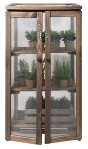 houten kweekkas met planken, moestuinland.nl