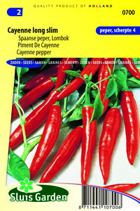 Spaanse peper zaden kopen | Cayenne Long Slim | Moestuinland