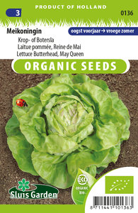 Biologische sla zaden kopen, meikonigin botersla of kropsla | Moestuinland