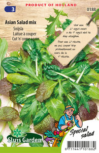 Snijsla zaden kopen, Asian Salad Mix, aziatische sla | Moestuinland