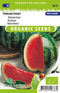 Biologische meloen zaden kopen, watermeloen crimson sweet | moestuinland