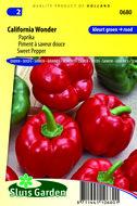 Rode paprika zaden kopen | California Wonder blokpaprika | Moestuinland